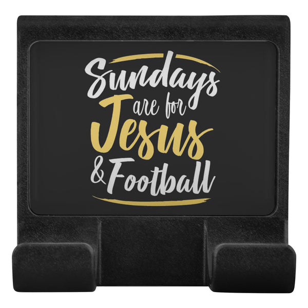 Sundays Are For Jesus & Football Christian Cell Phone Monitor Holder Laptop-Moniclip-Moniclip-JoyHip.Com