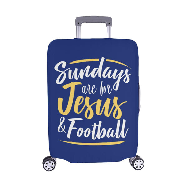 "Sundays Are For Jesus & Football Christian Travel Luggage Cover Suitcase 18""-28""-M-Navy-JoyHip.Com"