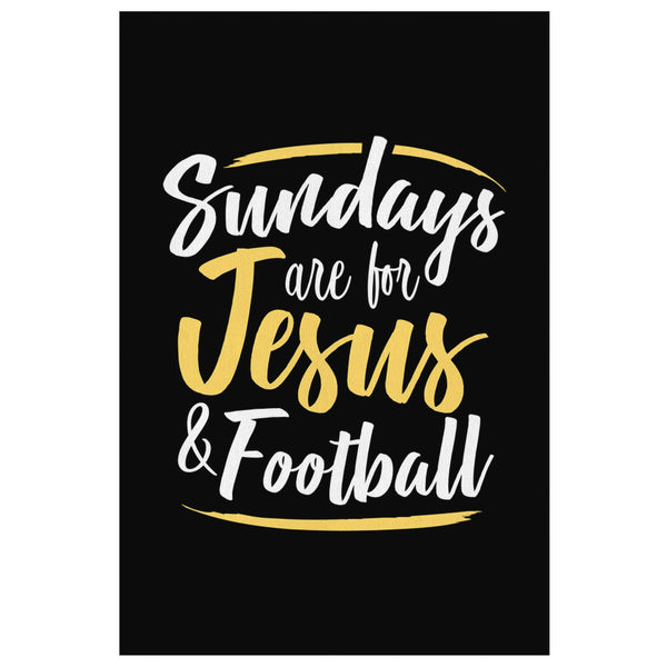 Sundays Are For Jesus & Football Funny Cute Christian Canvas Wall Art Room Decor-Canvas Wall Art 2-8 x 12-JoyHip.Com