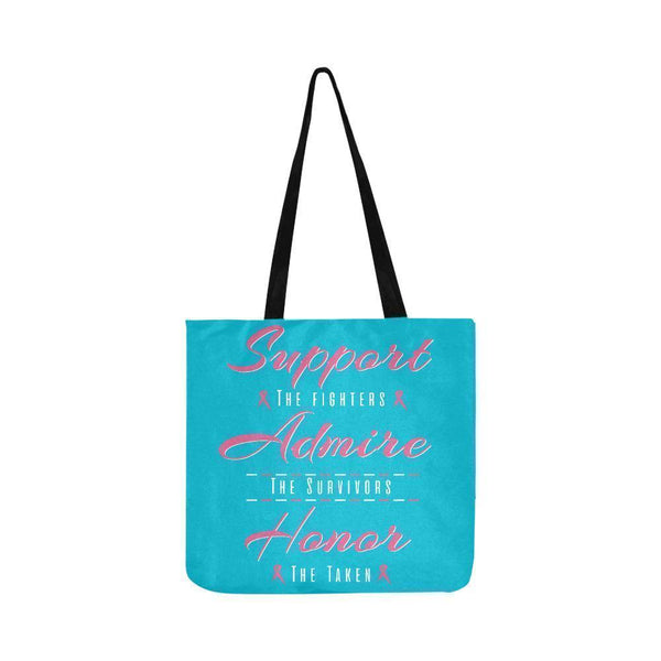 Support Fighters Admire Survivors Honor Taken Breast Cancer Grocery Produce Bags-One Size-Turquoise-JoyHip.Com