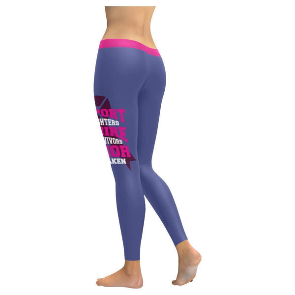 Support The Fighters Admire The Survivors Honor The Taken Breast Cancer Leggings-JoyHip.Com