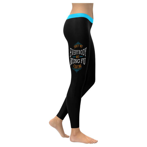 Surely Not Everybody Was KungFu Fighting Soft Leggings For Women Cute Funny Gift-XXS-Black-JoyHip.Com