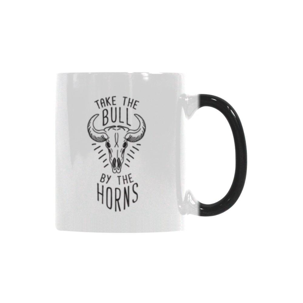 Take The Bull By The Horns Inspirational Motivational Quotes Color Changing/Morphing 11oz Coffee Mug-Morphing Mug-One Size-JoyHip.Com