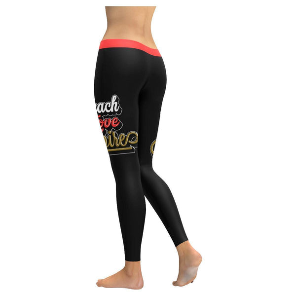 Teach Love Inspire Cool Meaningful Funny Teachers Day Gift Ideas Womens Leggings-JoyHip.Com