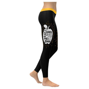 Teacher Of Tiny Humans Cool Meaningful Funny Teacher Gift Ideas Womens Leggings-XXS-Black-JoyHip.Com
