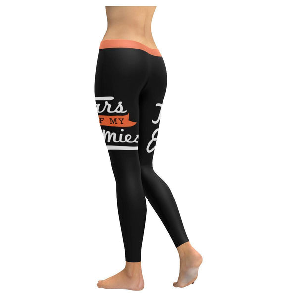 Tears Of My Enemies Humor Hilarious Joke Gag Funny Quotes UPF40+ Womens Leggings-JoyHip.Com