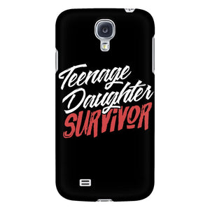 Teenage Daughter Survivor Cool Cute Funny Mom Gifts iPhone 6/6s/7/7s/8 Plus Case-Phone Cases-Galaxy S4-JoyHip.Com