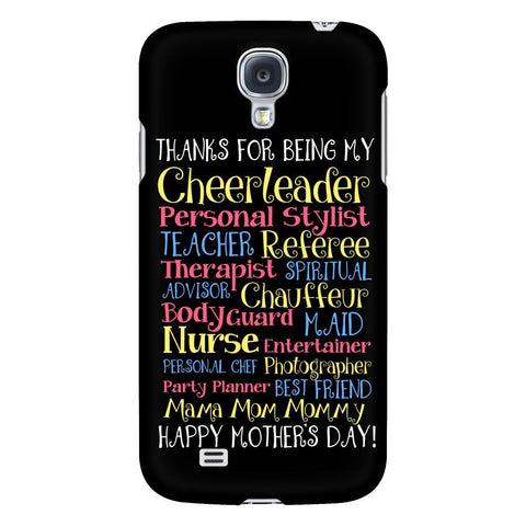 Thanks For Being My Cheerleader Teacher Best Friend Mom iPhone 7/7s/8 Plus Case-Phone Cases-Galaxy S4-JoyHip.Com
