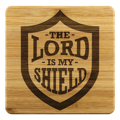 The Lord Is My Shield Funny Drink Coasters Set Christian Gifts Ideas Religious-Coasters-Bamboo Coaster - 4pc-JoyHip.Com
