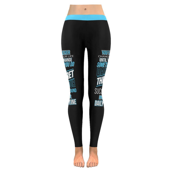 The Secret Of Success Is Found In Your Daily Routine Motivational Women Leggings-JoyHip.Com
