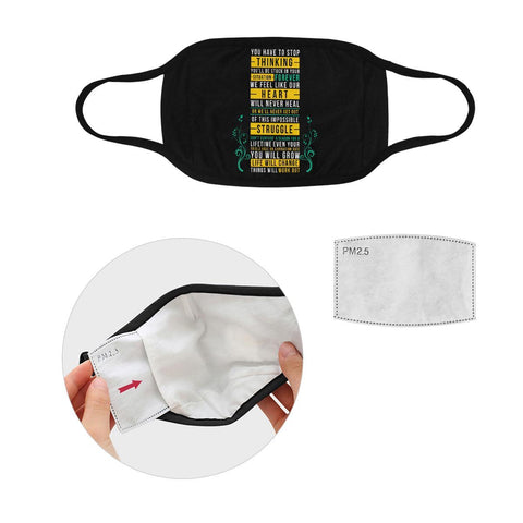 Things Will Work Out Washable Reusable Cloth Face Mask With Filter Pocket-Face Mask-S-Black-JoyHip.Com