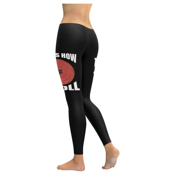 This Is How I Roll Funny Firefighter UPF40+ Moisture Wicking Womens Leggings-JoyHip.Com