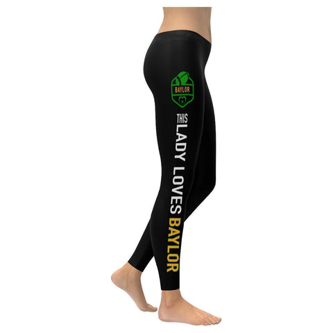 This Lady Loves BAYLOR Football Low Rise Leggings-Low Rise Leggings-XXS-JoyHip.Com