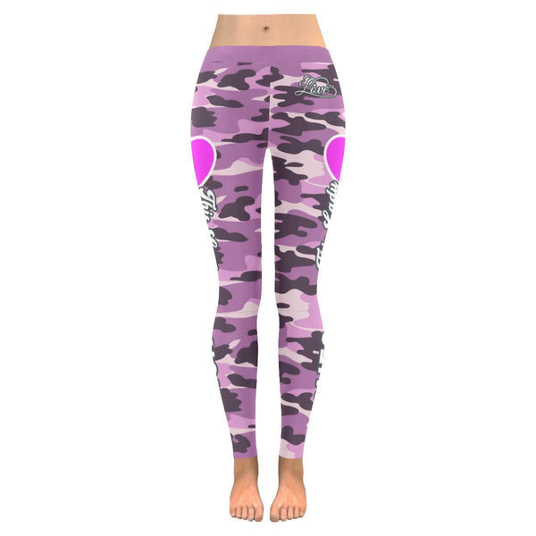 This Lady Loves Dancing Navy Inspired Blue Camouflage Pattern Womens Leggings-JoyHip.Com