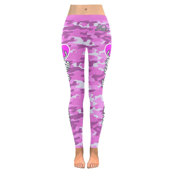 This Lady Loves Fishing Navy Inspired Blue Camouflage Pattern Womens Leggings-JoyHip.Com