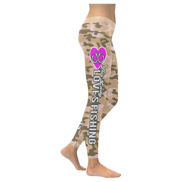 This Lady Loves Fishing Navy Inspired Blue Camouflage Pattern Womens Leggings-XXS-Desert-JoyHip.Com