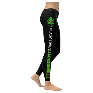 This Lady Loves JACKSONVILLE Football Low Rise Leggings-Low Rise Leggings-XXS-JoyHip.Com