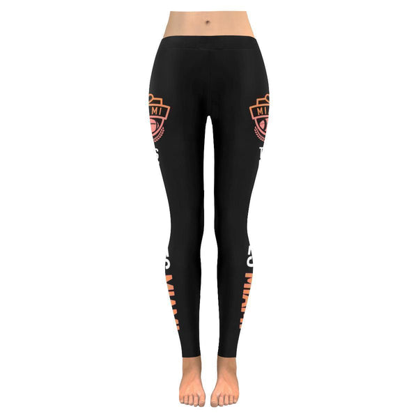 This Lady Loves MIAMI Football Low Rise Leggings-Low Rise Leggings-JoyHip.Com