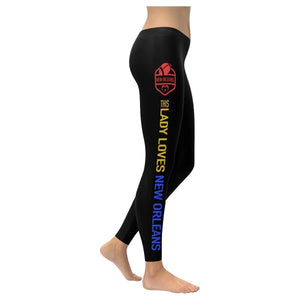 This Lady Loves New Orleans Football Low Rise Leggings-Low Rise Leggings-XXS-JoyHip.Com