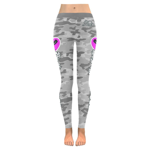 This Lady Loves Paddling Navy Inspired Blue Camouflage Pattern Womens Leggings-JoyHip.Com