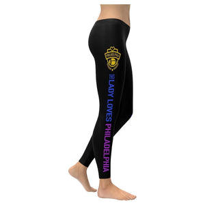 This Lady Loves PHILADELPHIA Football Low Rise Leggings-Low Rise Leggings-XXS-JoyHip.Com