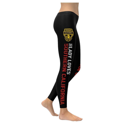 This Lady Loves Southern California Football Low Rise Leggings-Low Rise Leggings-XXS-JoyHip.Com