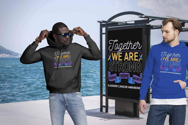 Together We Are Strong Fight Hope Believe Bladder Cancer Awareness Gift Hoodie-T-shirt-JoyHip.Com