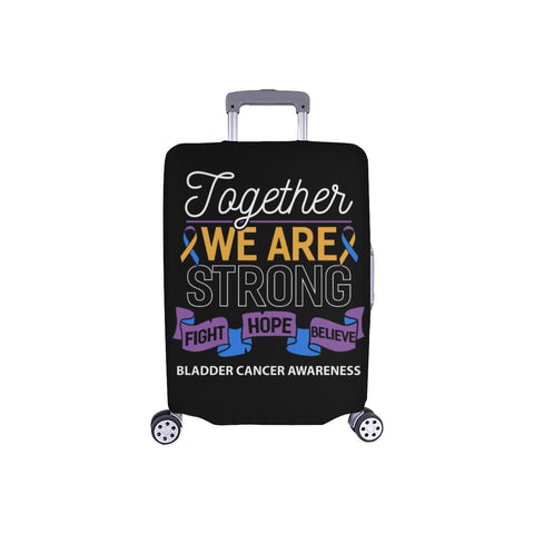 Together We Are Strong Fight Hope Believe Bladder Cancer Awareness Luggage Cover-S-Black-JoyHip.Com