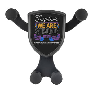 Together We Are Strong Fight Hope Believe Bladder Cancer Qi Wireless Car Charger-Gravitis Car Charger-Gravitis - Wireless Car Charger-JoyHip.Com