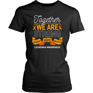 Together We Are Strong Fight Hope Believe Leukemia Awareness Lady T-T-shirt-District Womens Shirt-Black-JoyHip.Com