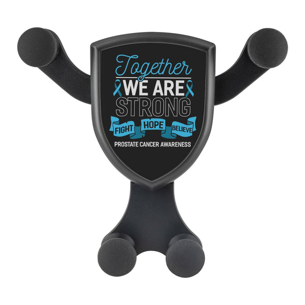 Together We Are Strong Fight Hope Believe Prostate Cancer Qi Wireless Car Mount-Gravitis Car Charger-Gravitis - Wireless Car Charger-JoyHip.Com