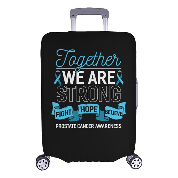 Together We Are Strong Fight Hope Believe Prostate Cancer Travel Luggage Cover-L-Black-JoyHip.Com