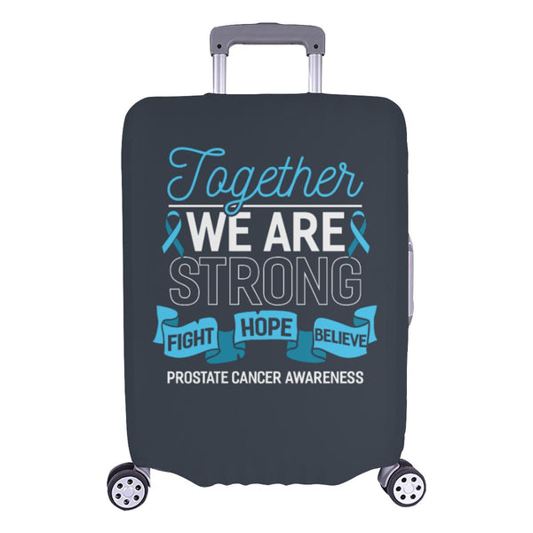 Together We Are Strong Fight Hope Believe Prostate Cancer Travel Luggage Cover-L-Grey-JoyHip.Com