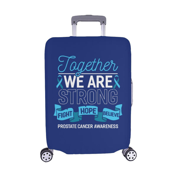 Together We Are Strong Fight Hope Believe Prostate Cancer Travel Luggage Cover-M-Navy-JoyHip.Com