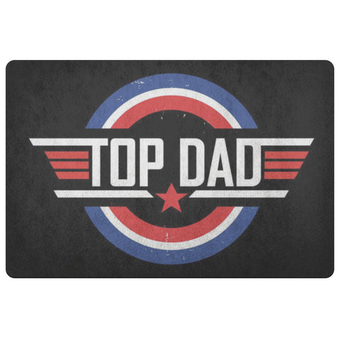 Top Dad 18X26 Front Door Mat Funny New Dad Gifts Ideas 1st Fathers Day Indoor-Doormat-Black-JoyHip.Com