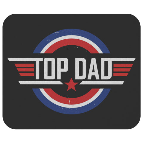 Top Dad Mouse Pad New Pappy Gifts Ideas Funny Fathers Day Unique Cool Awesome-Mousepads-Black-JoyHip.Com