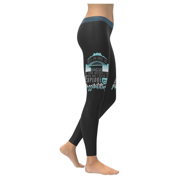 Until You Cross Of Insecurities Cant Explore Your Possibilities Womens Leggings-XXS-Grey-JoyHip.Com