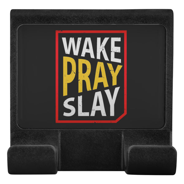 Wake Pray Slay Christian Cell Phone Monitor Holder For Laptop Desktop Display-Moniclip-Moniclip-JoyHip.Com