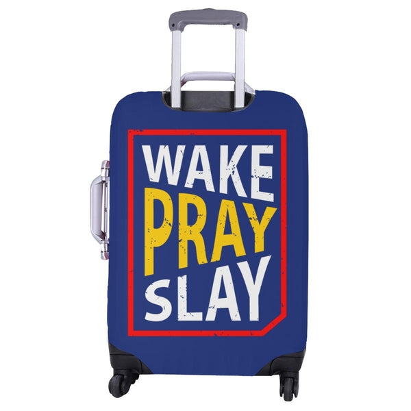 Wake Pray Slay Christian Travel Luggage Cover Suitcase Protector Fits 18-28 Inch-JoyHip.Com