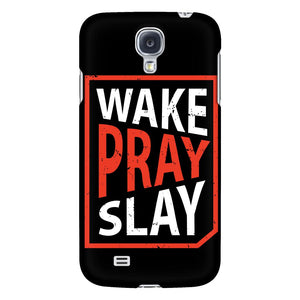 Wake Pray Slay iPhone 6/6s/7/7s/8 Plus Case Christian Bible Verses Inspirational Scripture Quote-Phone Cases-Galaxy S4-JoyHip.Com