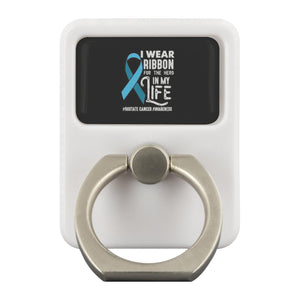 Wear Ribbon For The Hero In My Life Prostate Cancer Phone Ring Holder Kickstand-Ringr - Multi-Tool Accessory-Ringr - Multi-Tool Accessory-JoyHip.Com