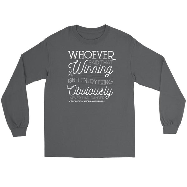Whoever Said Winning Isnt Everything Obviously Never Had Carcinoid Long Sleeve-T-shirt-Gildan Long Sleeve Tee-Grey-JoyHip.Com