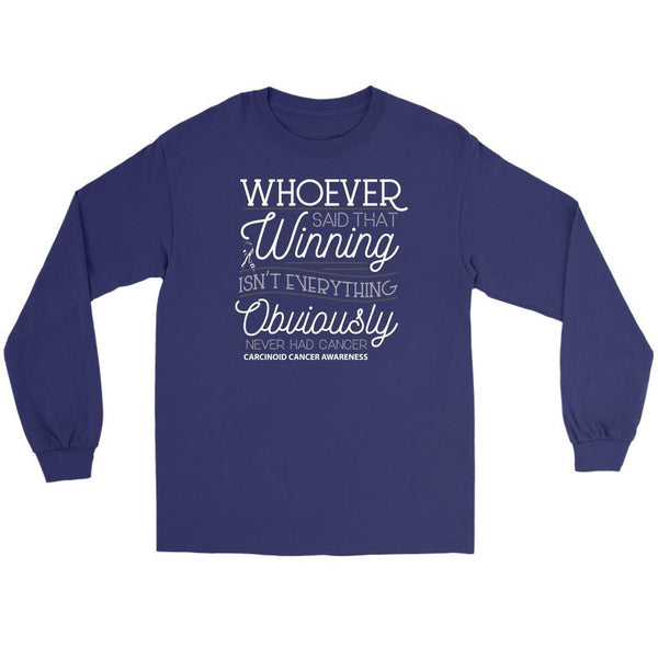 Whoever Said Winning Isnt Everything Obviously Never Had Carcinoid Long Sleeve-T-shirt-Gildan Long Sleeve Tee-Purple-JoyHip.Com