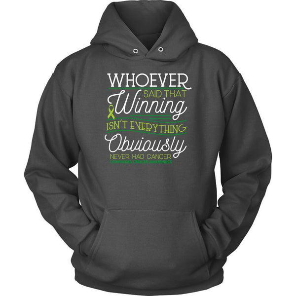 Whoever Said Winning Isnt Everything Obviously Never Had Lymphoma Hoodie-T-shirt-Unisex Hoodie-Grey-JoyHip.Com