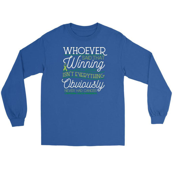 Whoever Said Winning Isnt Everything Obviously Never Had Lymphoma Long Tee-T-shirt-Gildan Long Sleeve Tee-Royal Blue-JoyHip.Com