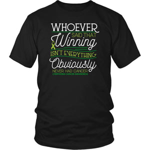 Whoever Said Winning Isnt Everything Obviously Never Had Lymphoma TShirt-T-shirt-District Unisex Shirt-Black-JoyHip.Com
