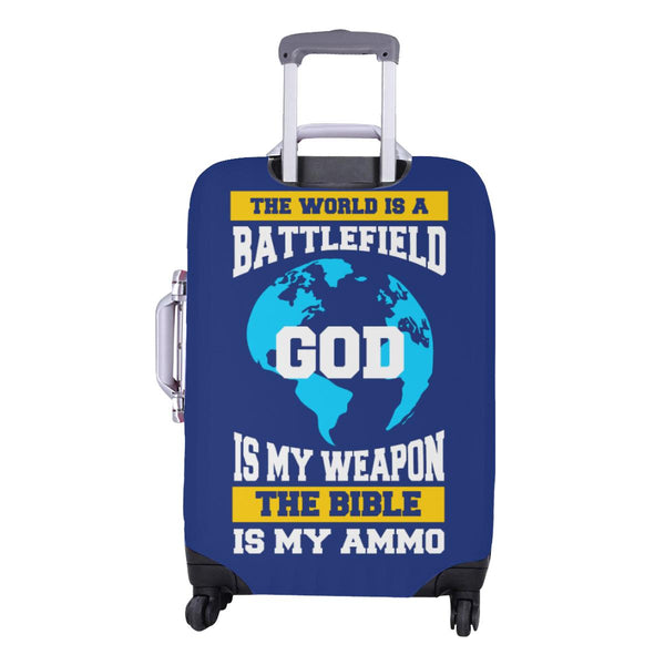World Is Battlefield God My Weapon Bible Ammo Christian Travel Luggage Cover-JoyHip.Com