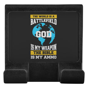 World Is Battlefield God Weapon Bible Ammo Christian Cell Phone Monitor Holder-Moniclip-Moniclip-JoyHip.Com