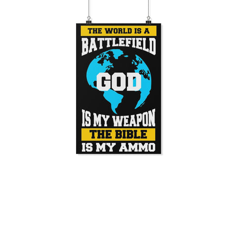 World Is Battlefield God Weapon Bible Ammo Christian Poster Wall Art Room Decor-Posters 2-11x17-JoyHip.Com