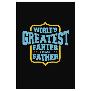 Worlds Greatest Farter I Mean Father Funny Gifts For Men Canvas Wall Art Decor-Canvas Wall Art 2-8 x 12-JoyHip.Com